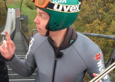 Daniel Danger beim Skispringen