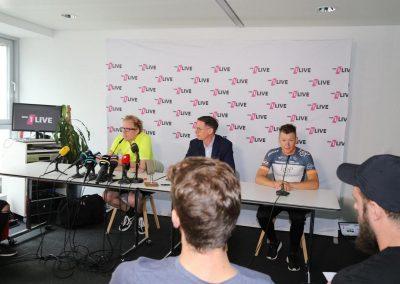 Die offizielle Pressekonferenz zur Tour de France-Etappe mit WDR-Sportchef Steffen Simon